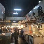 築地市場(場内)観光レポート!! 活氣と渋滞で溢れる場所だった。
