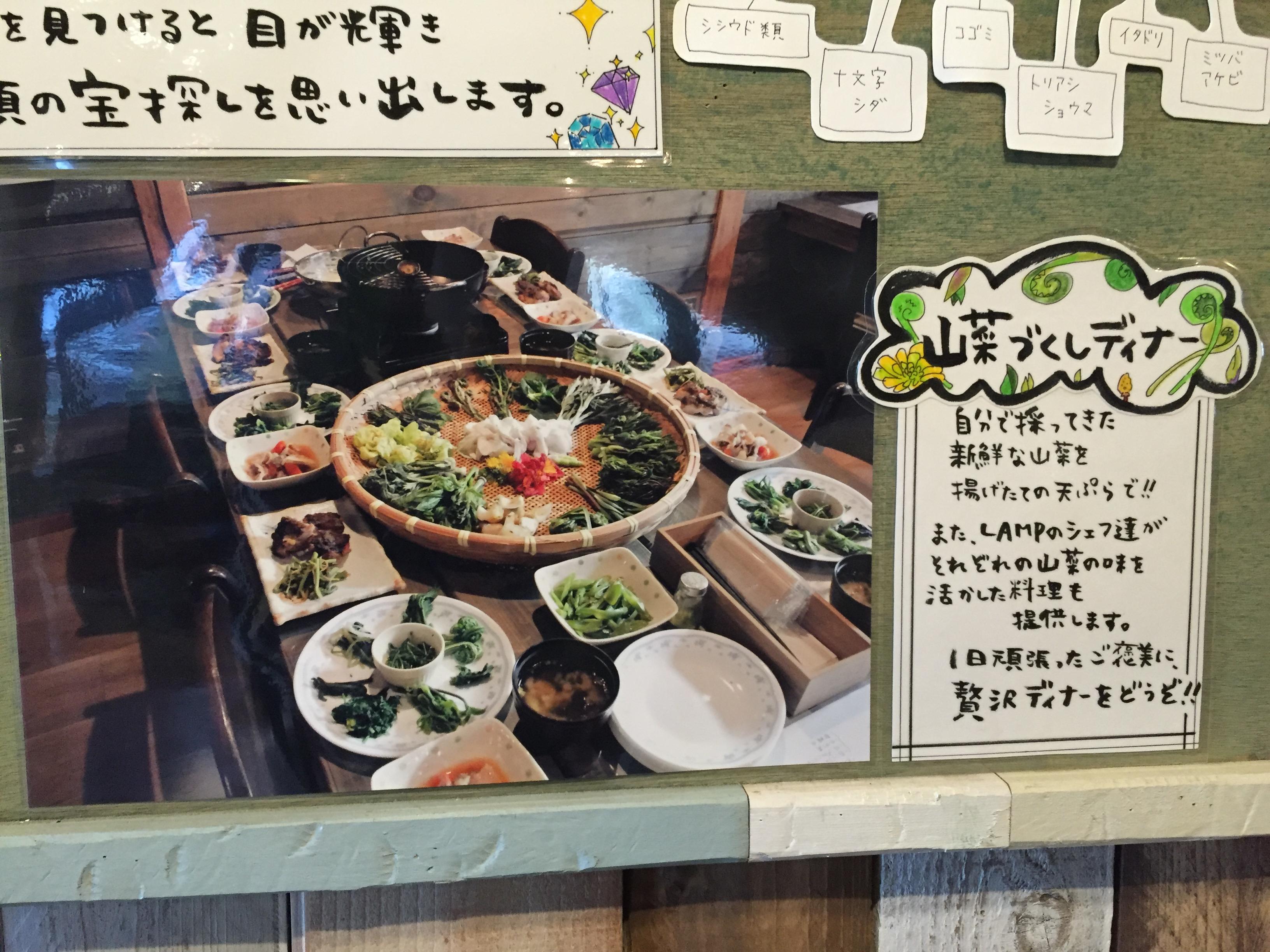 山菜尽くしディナーの紹介写真