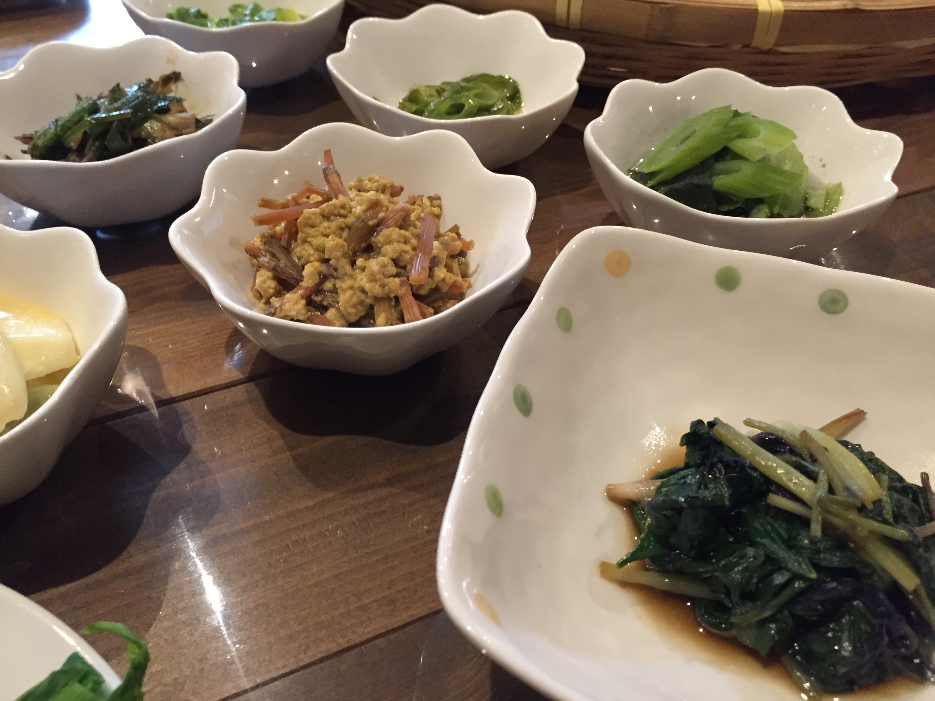 かなり美味しい山菜の小鉢